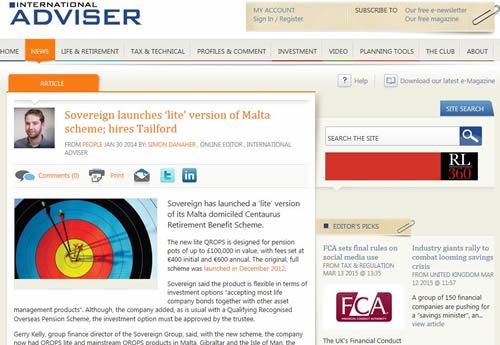 Sovereign launches 'lite' version of Malta scheme